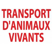 "Autocollant ""Transport d'animaux vivants"""