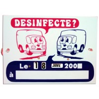 Plaque de désinfection