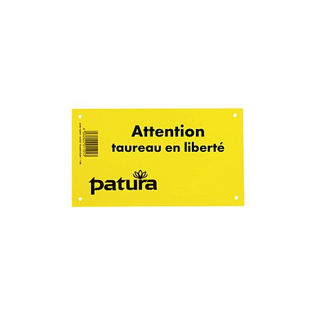 Plaque - Attention taureau en liberté